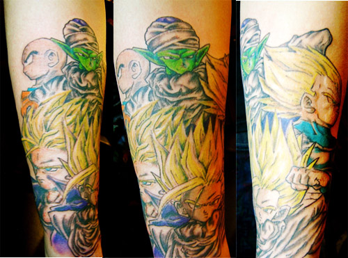 dragon ball z warriors tattoo