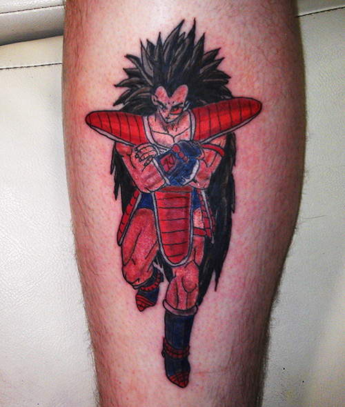 raditz dragon ball z tattoo