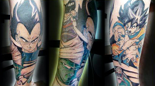 dragon ball tattoo vegeta gohan piccolo goku kame dbz