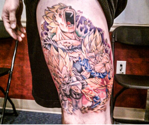 Vegeta Goku Tattoo Super Saiyan Leg