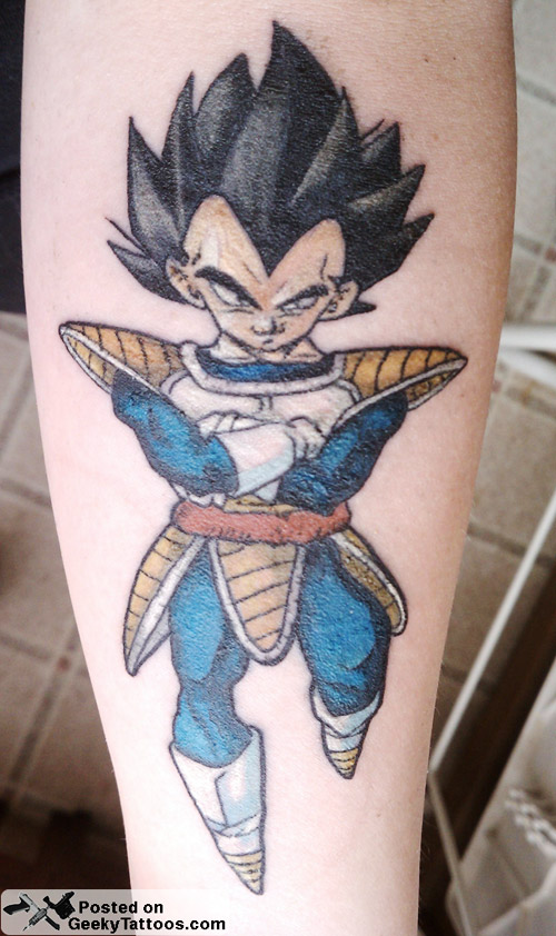 vegeta tattoo flying dbz