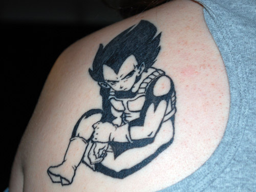 vegeta tattoo seated black dbz