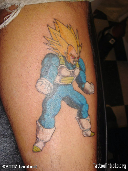 vegeta tattoo super vegeta dragon ball z