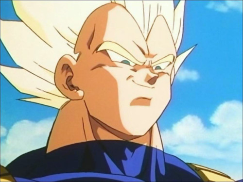 vegeta face super saiyan dbz