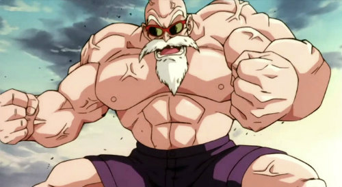 master roshi dragon ball z power up