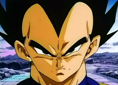vegeta face dragon ball z
