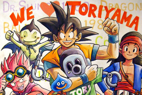we love akira toriyama dragon ball