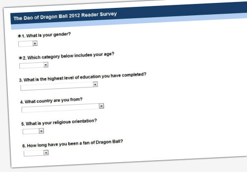 dao of dragon ball book 2012 reader survey