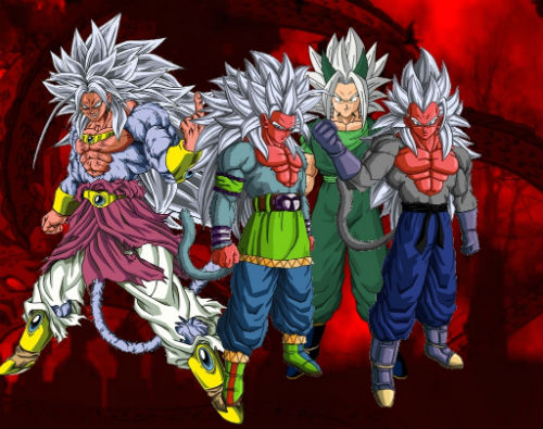 super saiyan 5 broly goku vegeta xicor dragon ball af