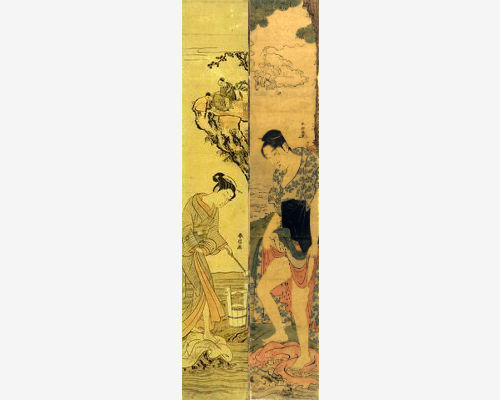 kume sennin scroll paintings