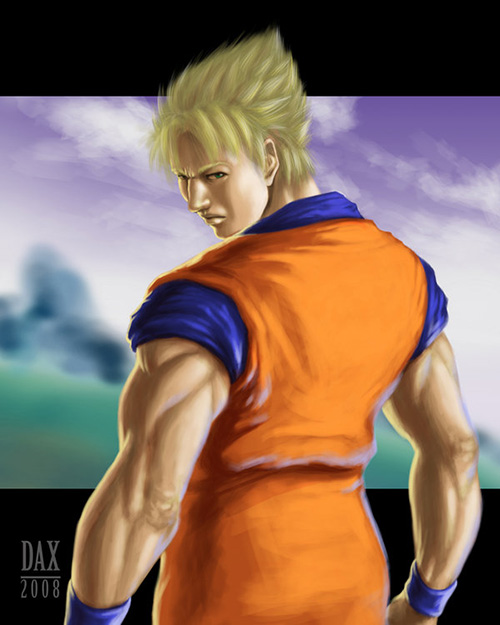 goku super saiyan dragon ball art painting