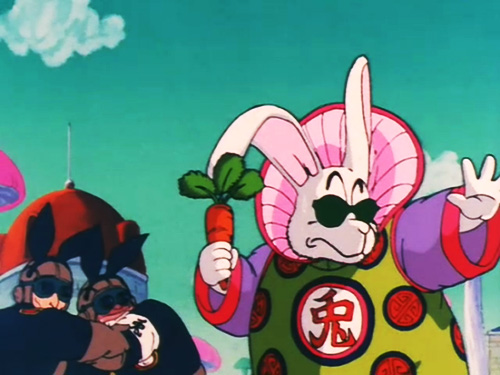 rabbit boss holds carrot gang dragon ball