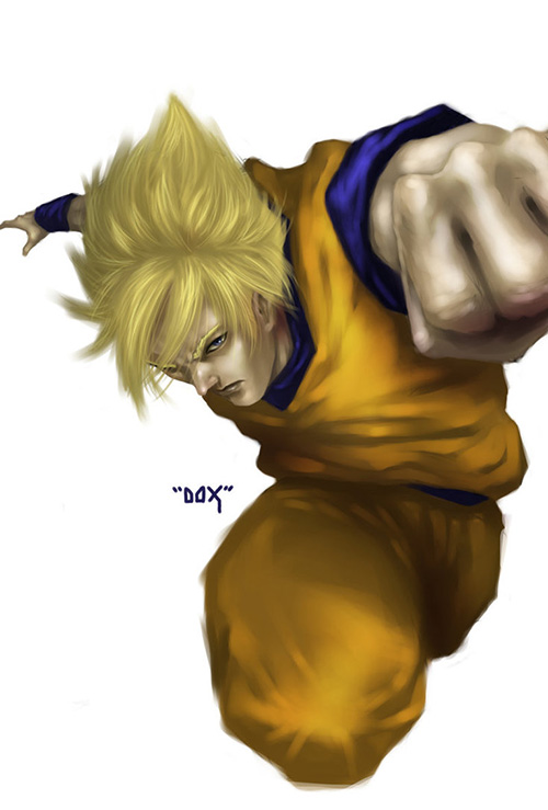 super saiyan goku dragon ball art painting