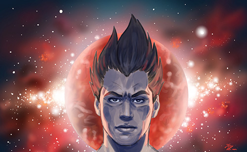 vegeta digital painting dragon ball art dbz