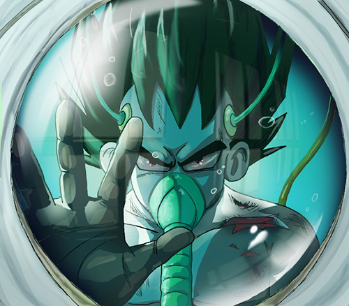 vegeta dragon ball art painting tank dbz