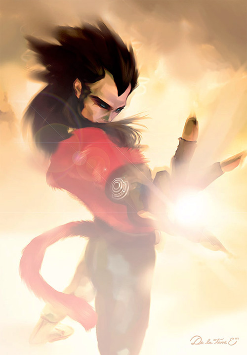 vegeta painting dragon ball art dbz