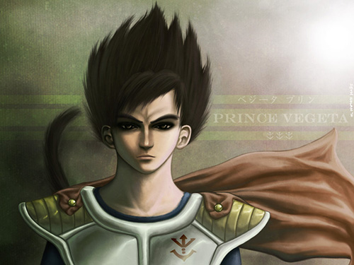 vegeta child portrait painting dbz