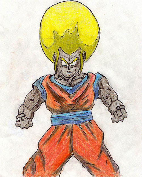 black super saiyan goku golden afro