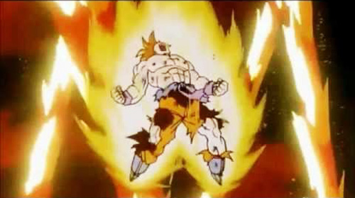 son goku endures namek explosion dragon ball z
