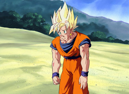 goku super saiyan sad dbz