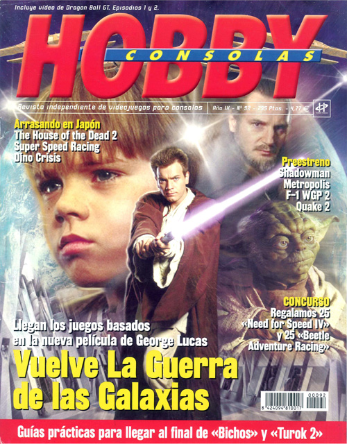 hobby consolas magazin dragon ball star wars cover 1999