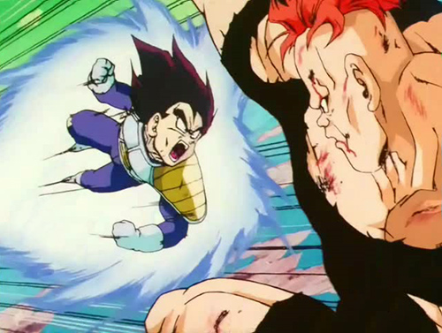vegeta fight recoome dbz