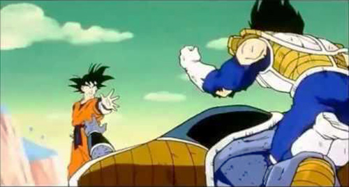 vegeta kills burter dragon ball z