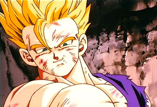 adult gohan super saiyan emotion