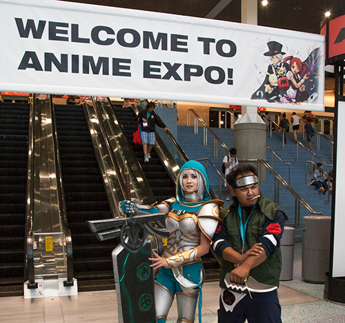 anime expo 2012 welcome sign naruto
