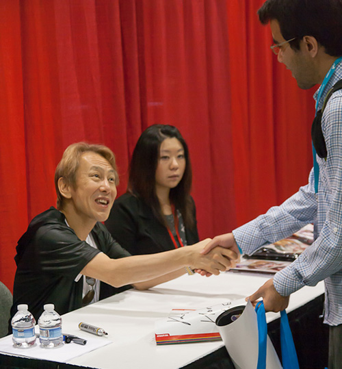 ryo horikawa vegeta anime expo signs autographs