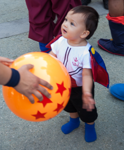 goku baby vegeta dbz cosplay anime expo