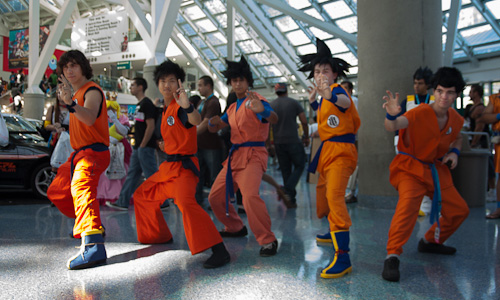 goku group dragon ball cosplay anime expo dbz