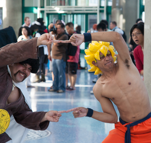 super saiyan goku mr satan fusion dragon ball cosplay