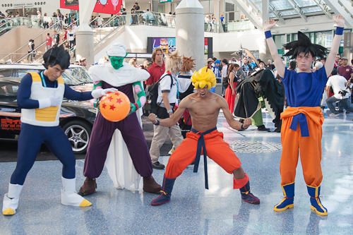 dragon ball cosplay namek piccolo vegeta goku super saiyan
