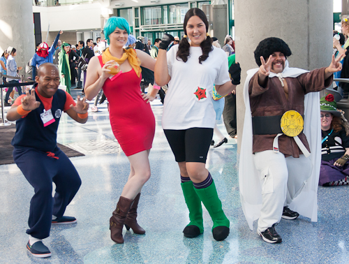 dragon ball cosplay krillin bulma videl mr satan
