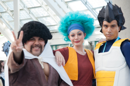 dragon ball cosplay anime expo mr satan bulma vegeta