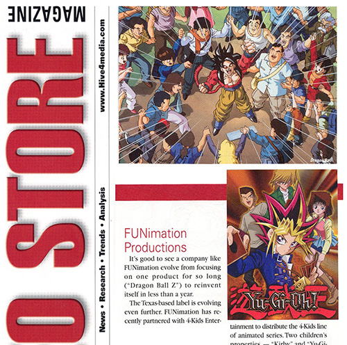 dragon ball z video store magazine