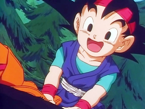 goku jr happy smile dragon ball gt