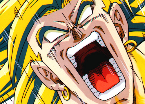 broly super saiyan scream eyes dbz