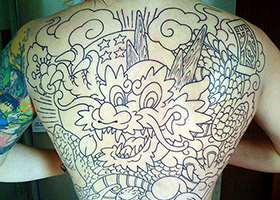 dragon ball tattoo shenron