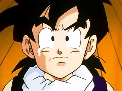 gohan sad cry tears no new dragon ball series