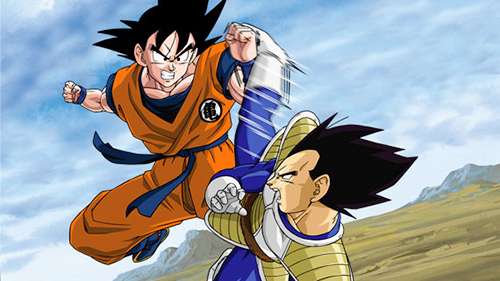 goku fight vegeta dbz over 9000