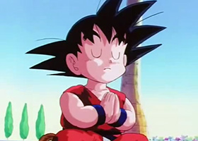 goku meditate pray dragon ball