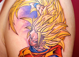 goku tattoo super saiyan 3 dbz