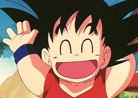 happy goku child laugh dbz