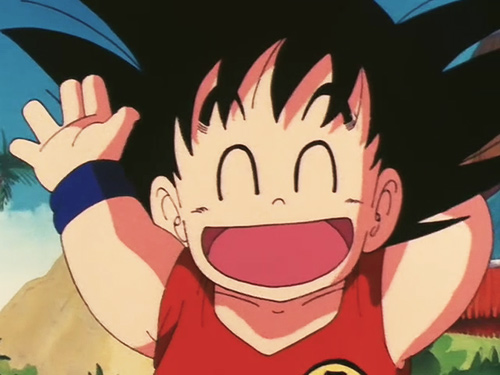 happy goku child laugh