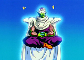 piccolo meditating lotus dbz