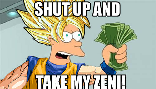 shut up and take my zeni dbz affiliate program