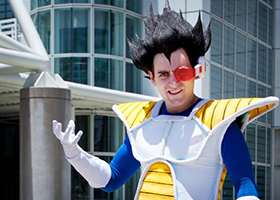 vegeta cosplay dragon ball anime expo