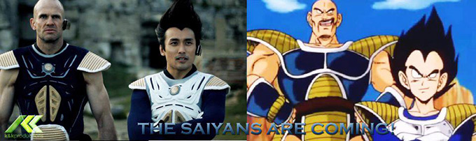 the saiyans are coming nappa vegeta dbz